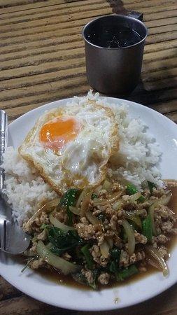 Farang Bar: fried chilli pork with basil leaf