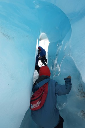 Franz Josef, Nuova Zelanda: Blue Ice... full of oxygen and smell the clean air...