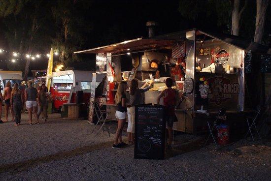 Gualta, Spain: A variety of street food traders