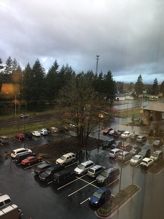 Rochester, WA: Looking north from Great Wolf Lodge towards McDonalds.