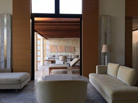 Kranidi, กรีซ: Beautiful Villa Living Room