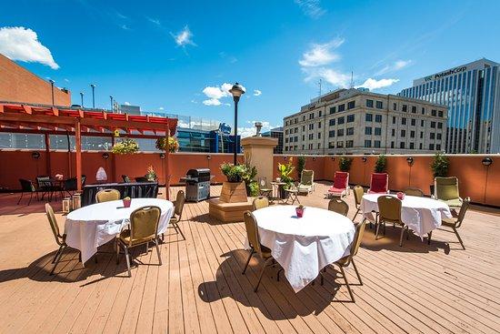 Hilton Garden Inn Saskatoon Downtown: Josie's Deck is available to book. Located on the 2nd Floor.