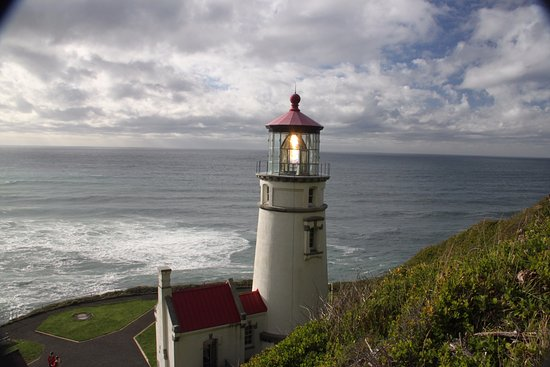 Florence, OR: Picture taken on hill above the lighthouse