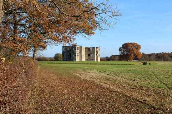 Oundle, UK: Approach from the Fermyn Woods walk