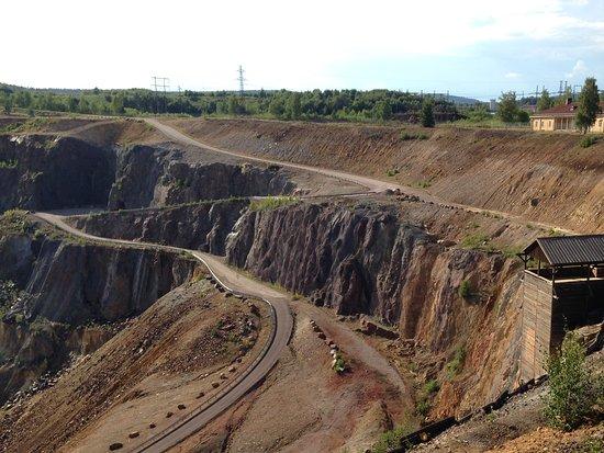 Gli scavi della Miniera di rame di Falun