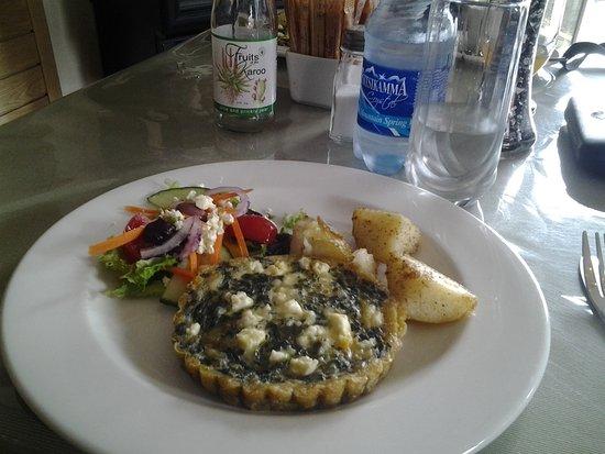 Uniondale, Sudáfrica: Feta and spinach quiche
