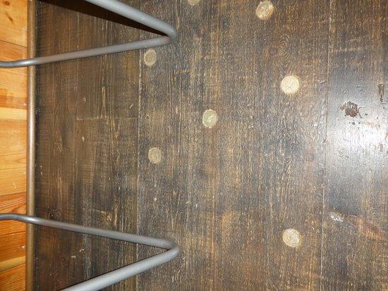 Ticehurst, UK: coins in the floor
