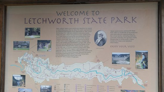 Castile, NY: Letchworth State Park: Map of the park