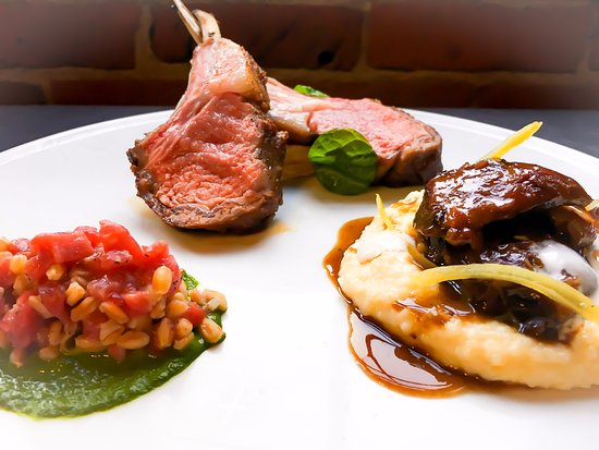 Oak + Rowan: Lamb - Tartar, Roasted and Braised with Flint corn polenta