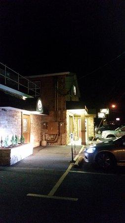 Sayre, PA: Original Italian Pizza: Entrance at night