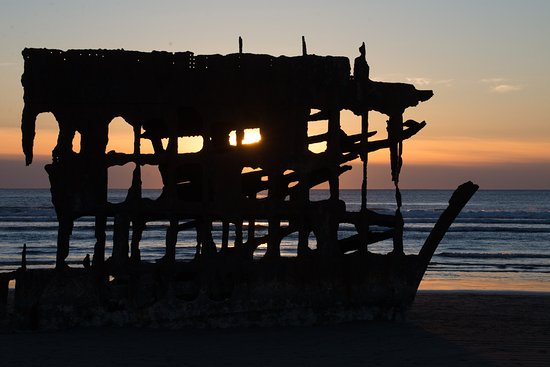 Warrenton, OR: Peter Iredale at sunset.