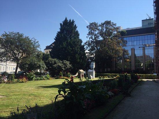 Landesgalerie: Jardim lateral