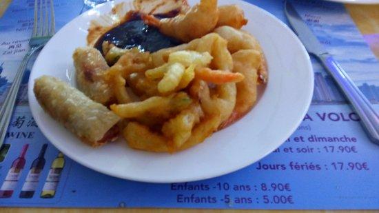 Albertville, Fransa: Nems et beignets de légumes