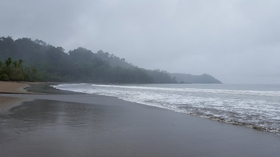 Osa Peninsula, Costa Rica: The beacht just after arriving with the boat tranfser.