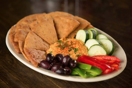 Soulshine Pizza Factory: Roasted Red Pepper Hummus