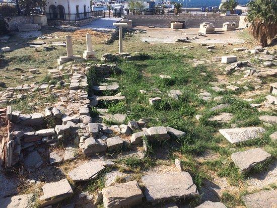 Parikia, Griekenland: deel van de site