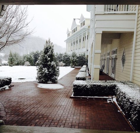 Bedford, Pensilvania: A light dusting of snow made everything more festive