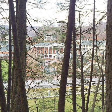 View of Bedford Springs from the hiking trails