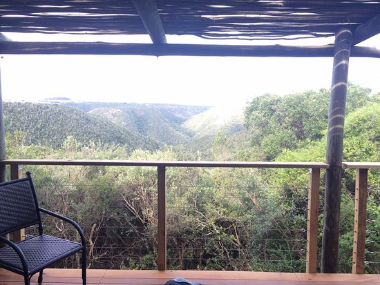 Kenton-on-Sea, South Africa: View from chalet 10