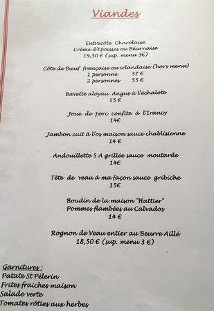 Le Saint Pelerin: Terrine de foie gras maison, Rognon de veau entier beurre aillé,