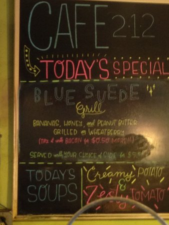 Cafe 212: Specials at the 212