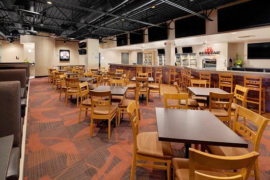 lots of seating tables booths bar la z boys or bar picture of the red zone premium sports bar saskatoon tripadvisor tripadvisor