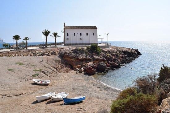 Isla Plana, Spagna: Playa la Caleta viewed from the Social Club