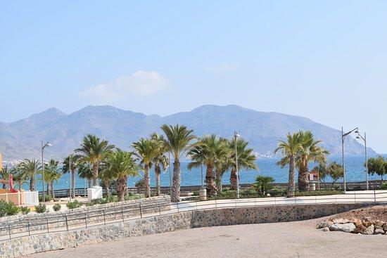 Isla Plana, Spagna: The access ramp to the beach at Playa la Caleta