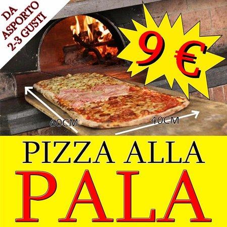 Lavinio Lido di Enea, Italia: Pizza alla Pala da Asporto €9