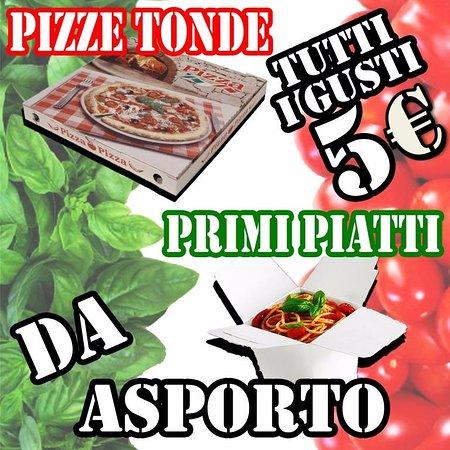 Lavinio Lido di Enea, Italia: Pizze Tonde e Primi Piatti da Asporto €5