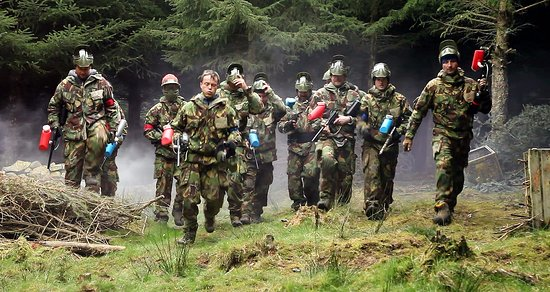 Penrith, UK: Paintball in Cumbria the Lake District