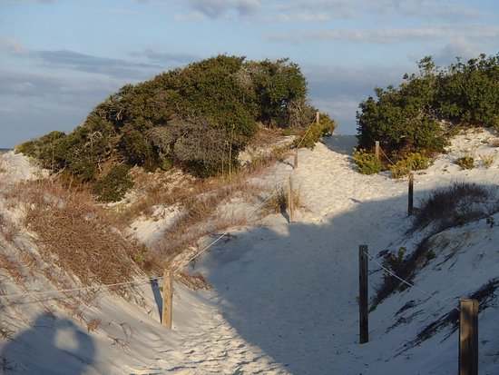 Port Saint Joe, FL: Cabin trail to beach at St. Joseph Peninsula State Park
