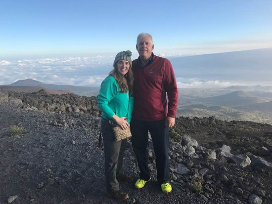 Mauna Kea Summit: At the stop to adjust to the altitude around 9,000 ft. Those are clouds below us!