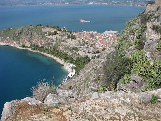 A view of the Nafplio from the castle