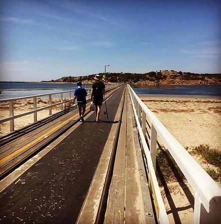 Виктор-Харбор, Австралия: Having our morning walk up to Granite Island!