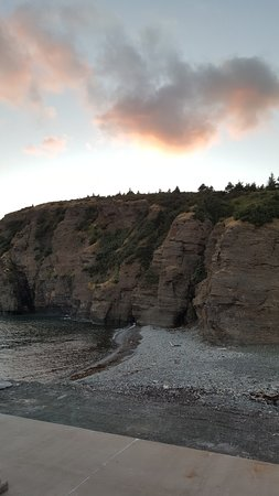 Portugal Cove, Canada: Looking back at Bell Island from the ferry