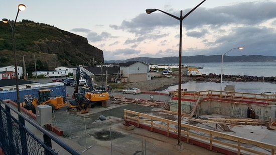 Portugal Cove, Canada: Construction of the new Bell Island dock