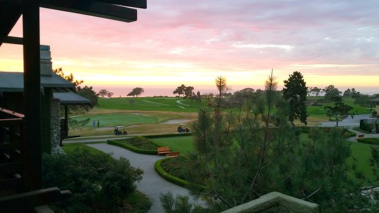 looking out from restaurant balcony picture of the lodge at torrey rh tripadvisor com