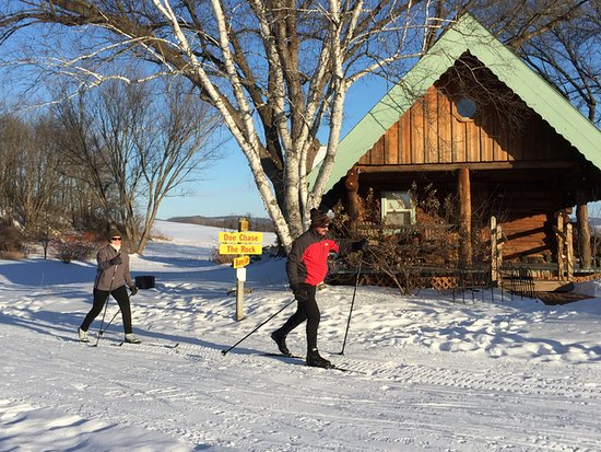 Sparta, WI: Cross Country Skiing at Justin Trails
