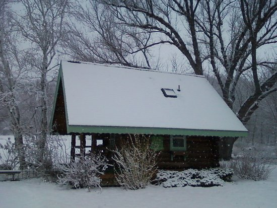 Sparta, WI: Snow Covered Cabin