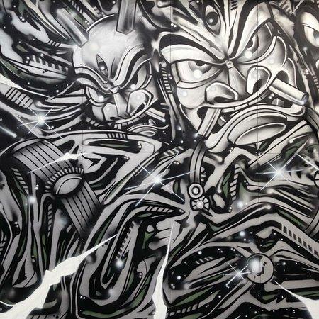 oga peninsula local namahage graffiti art