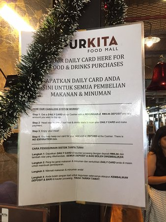 Johor Bahru City Square Dapur Kita Food Court Instructions On Purchasing A Card