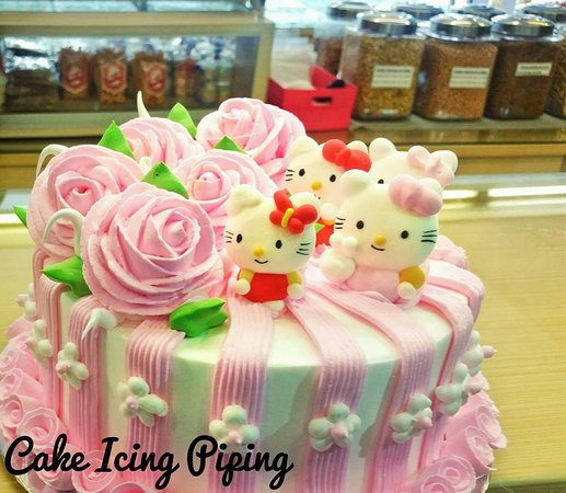 Hello Kitty Type 1 Custom Birthday Cake