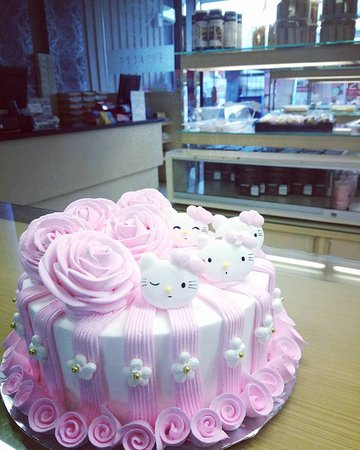 Incredible Hello Kitty Type 2 Custom Birthday Cake Made By Strawberry Personalised Birthday Cards Cominlily Jamesorg