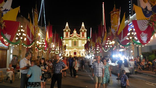 Excursion in Malta: Street and Church Decoration at the Festa of St Catherines - Zurrieq
