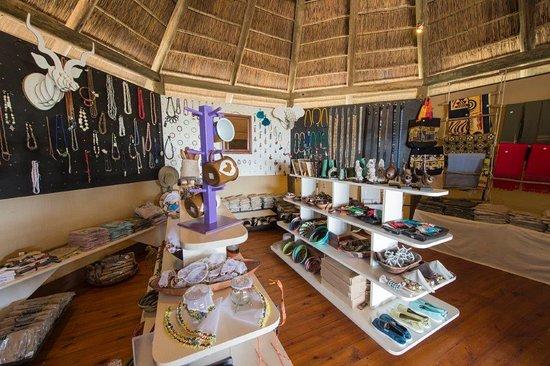 Central Kalahari Game Reserve, Botswana: Curios Shop at Kalahari Plains Camp