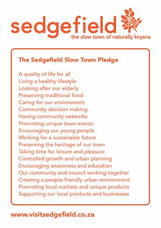 Sedgefield Slow Town Pledge
