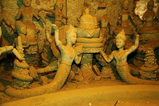Vientiane, Laos: sculptures inside the pumpkin