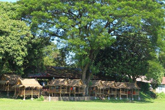 Vientiane, Laos: Huts for resting