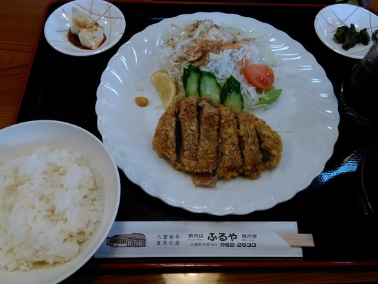 Yakumo-cho, Ιαπωνία: ヒレカツ定食です。